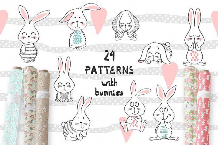 Childrens seamless patterns