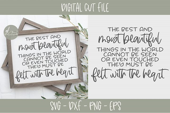 The Best And Most Beautiful Things In The World - SVG
