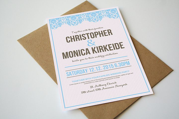 Wedding Invitation Simple Card