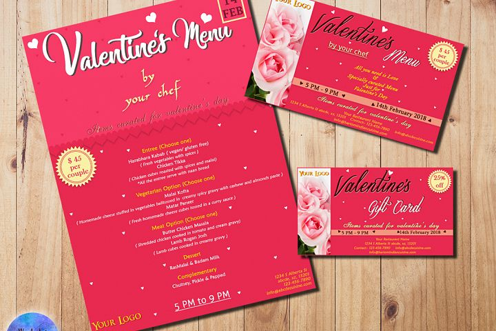 Valentine Day Template Set