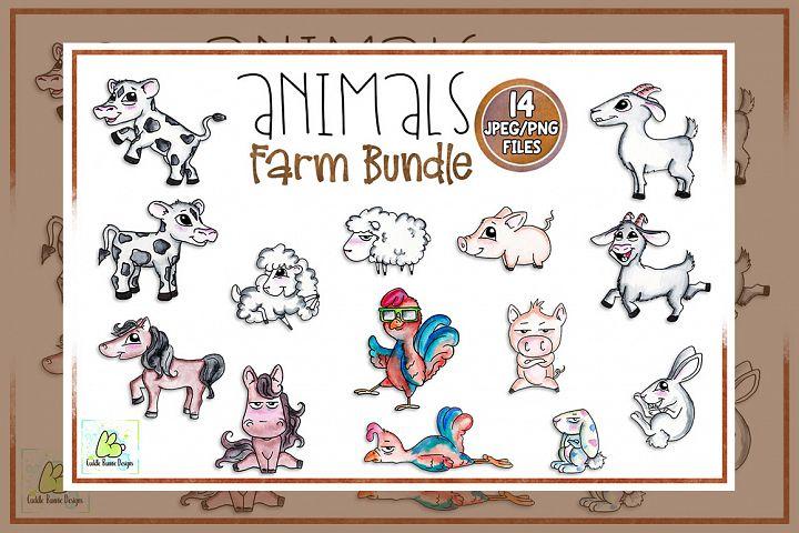 Clipart, Sublimation, Funny Animal,Farming, Farm Animal