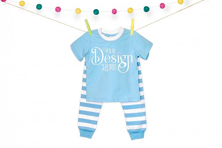 Easter Pajamas Mock up - Blue