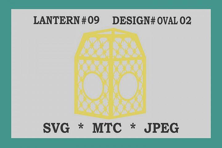 SVG Criss Cross Star Design #02 OVAL 3D Paper Lantern 09