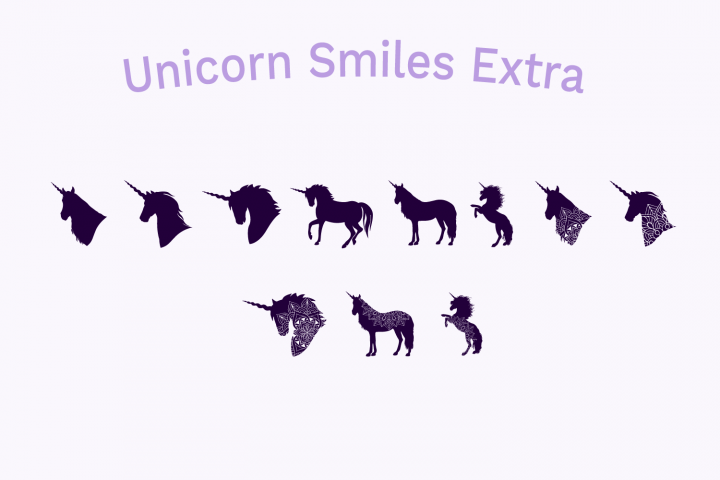 Unicorn Smiles Layered Font plus Bonus Files | Unicorn Font example image 7