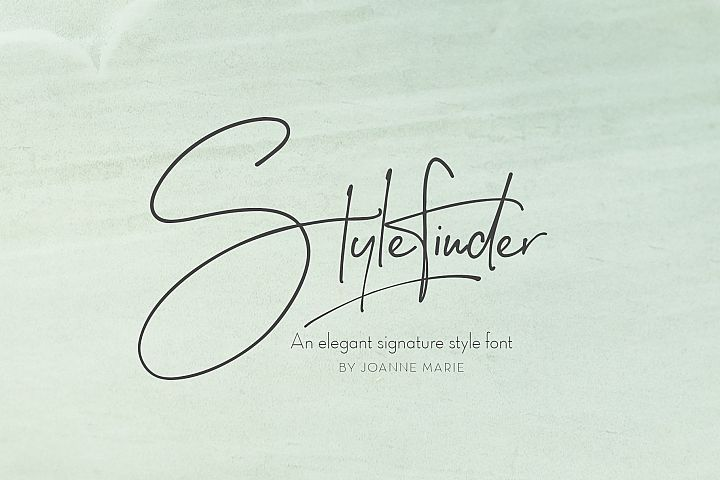 Stylefinder signature font