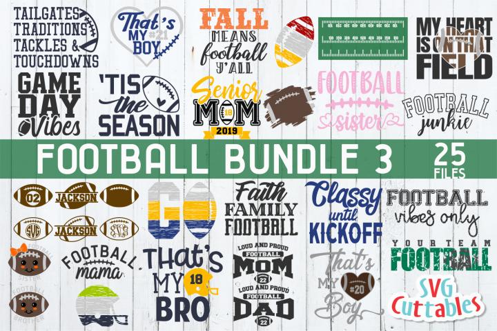 Football Bundle 3 | Football Cut File