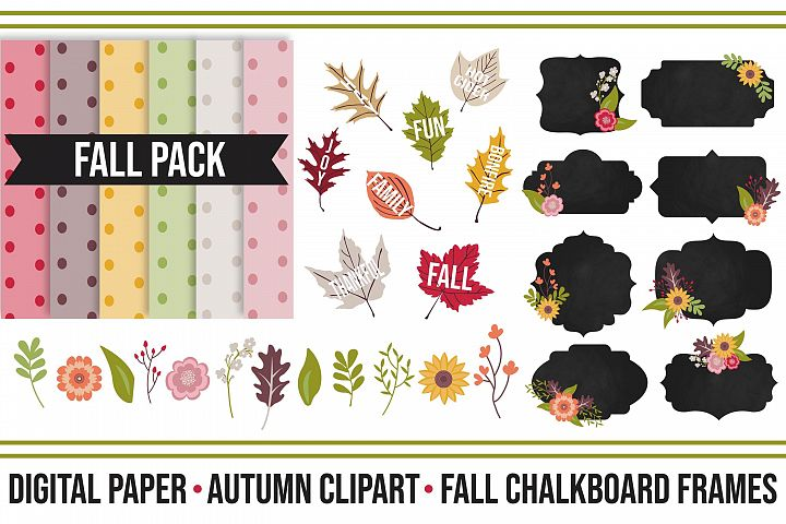 Fall Festive Digital Clipart Pack