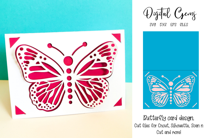 Butterfly card design SVG / DXF / EPS files