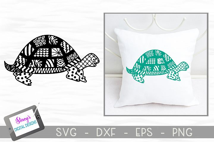 Turtle SVG with Doodle patterns