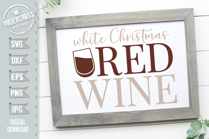 White Christmas, Red Wine SVG