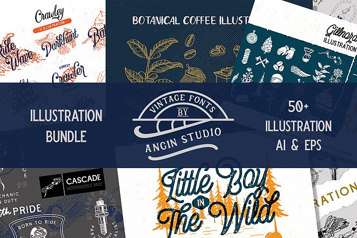 Angin Studio Illustration Bundle