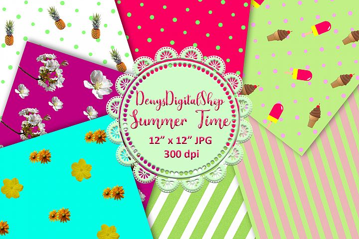 Summer Digital Paper, Summer Digital Download,Summer,OFF50