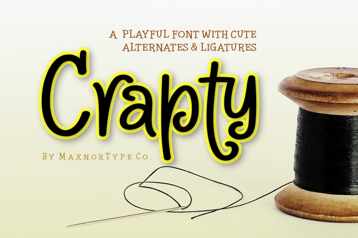 Crapty - a Playful Font with Cute Alternates & Ligatures