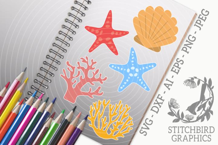 Reef Bundle SVG, Silhouette Studio, Cricut, Eps, JPEG, PNG