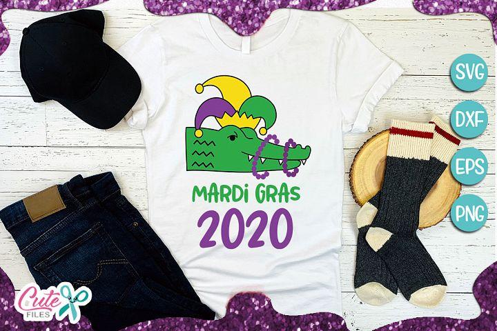 Mardi gras 2020, crocodile svg for crafters