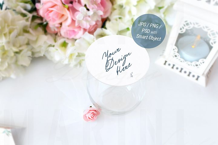 Drink Coaster Mockup, Wedding Mockup, Round coaster, 943_A