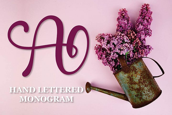 Monogram Letters - A Hand Lettered Set Of Initials