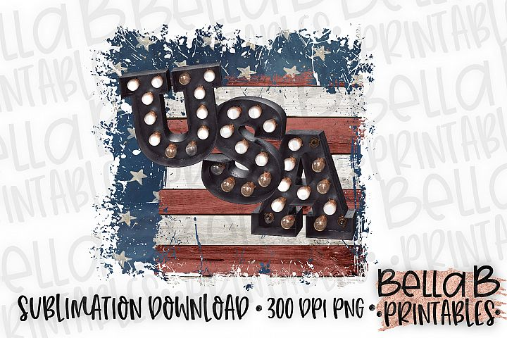 Distressed American Flag, USA Sublimation Design, 4th Of Jul