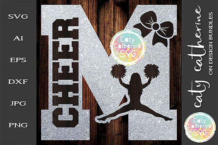 Letter M Cheerleading Monogram Letters SVG Cut File