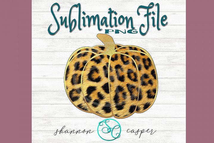 Tiger Print Furr Look Pumpkin| Sublimation File