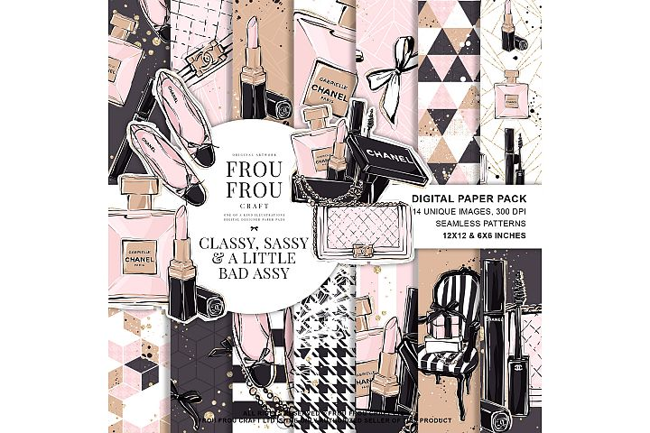 Fashion Beauty Makeup Lipstick Perfume Paper Pack