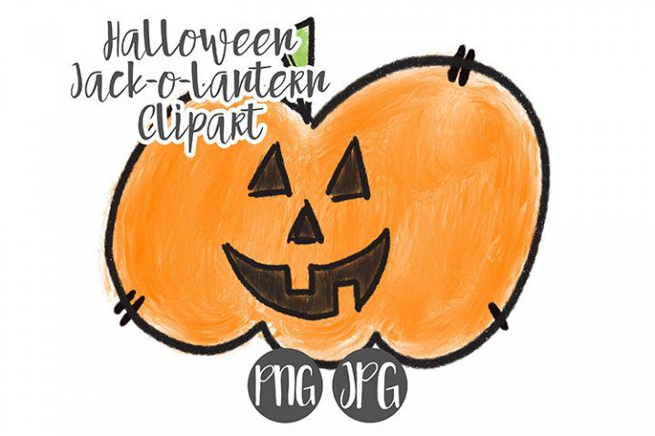 Hand Drawn Halloween Pumpkin Clipart