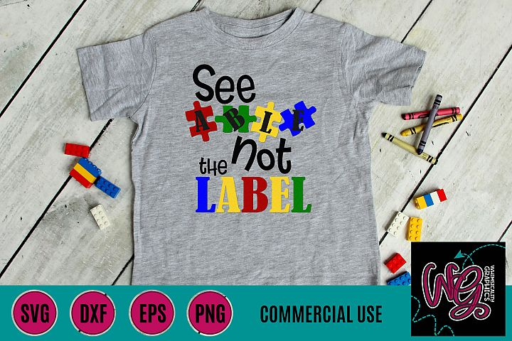 See Able Not a Label SVG, DXF, PNG, EPS, JPEG