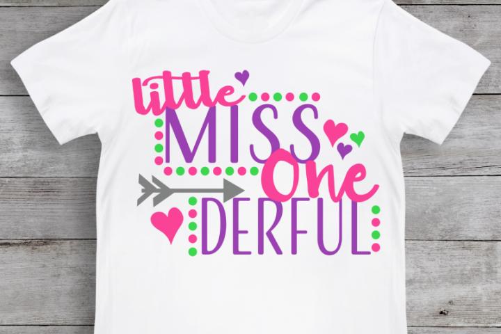 Little Miss One Derful SVG