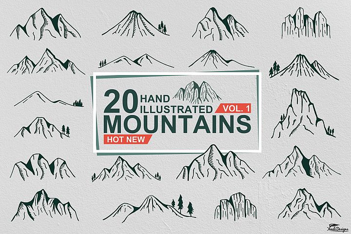 Hand Illustrated Mountain Vol. 1