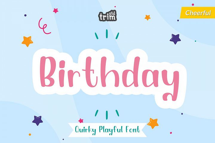 Birthday - Quirky Playful Font