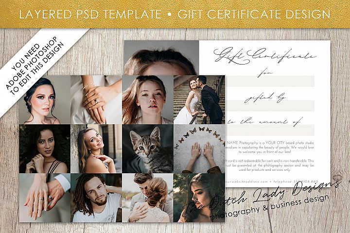 Photo Gift Card Template for Adobe Photoshop - #51