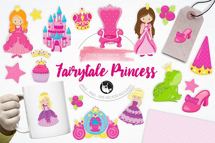Fairytale Princess  graphics and illustrations - Free Design of The Week