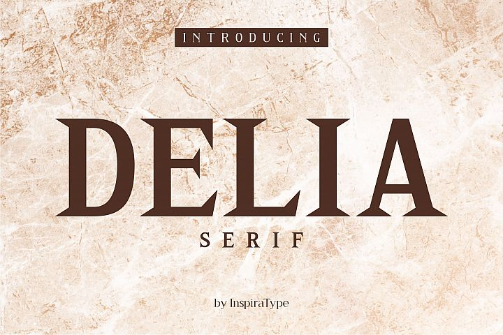 Delia - Regular & Bold Serif