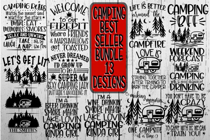 Camping Bundle - Best Sellers - 13 Designs - Vol 2 - Cutting