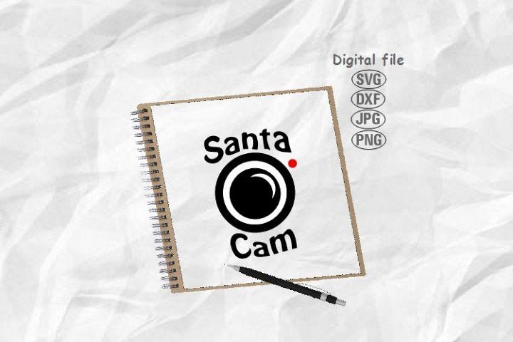 Santa Cam Svg, Christmas Svg, Santa Camera Svg