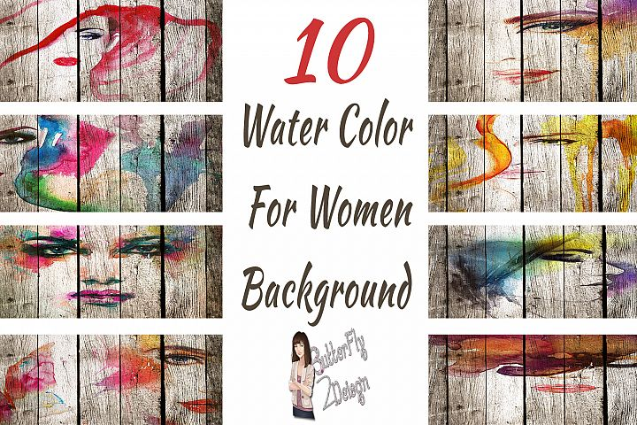 10 Woman Water Color Background