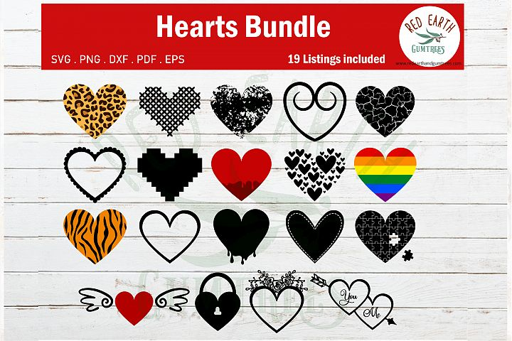 Huge hearts bundle,cheetah heart,distressed heart SVG PNG
