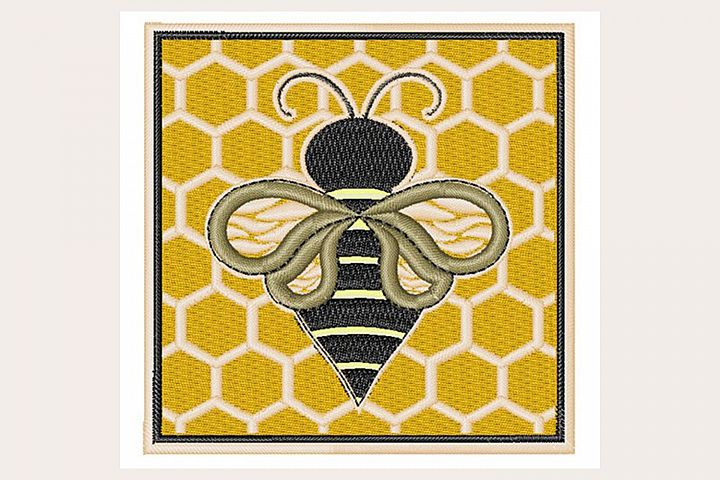 Honey Bee - Machine Embroidery Design