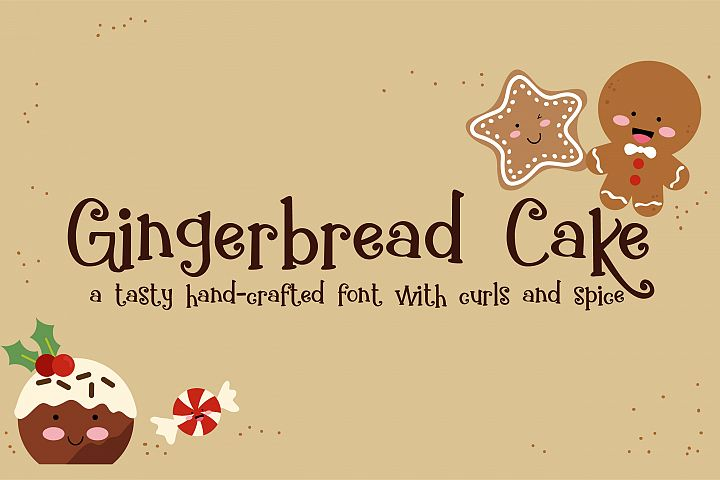 ZP Gingerbread Cake - Free Font of The Week Font
