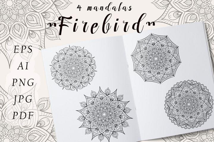 Vector Mandala Firebird