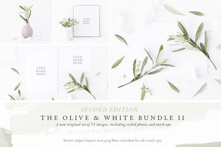 The Olive & White Wedding mockup BUNDLE