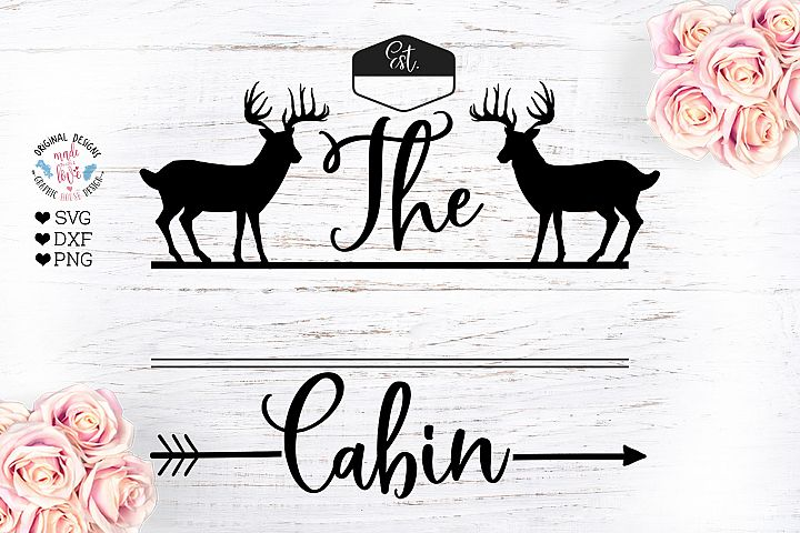 Cabin Family Name Sign Cut File