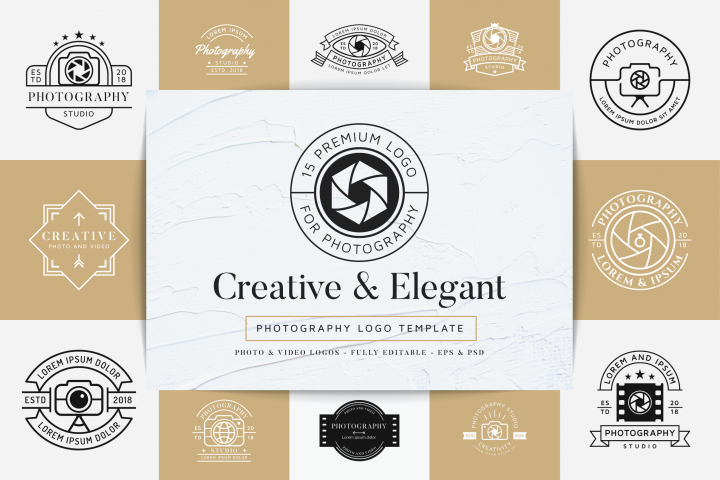 15 Premium Photography Logo