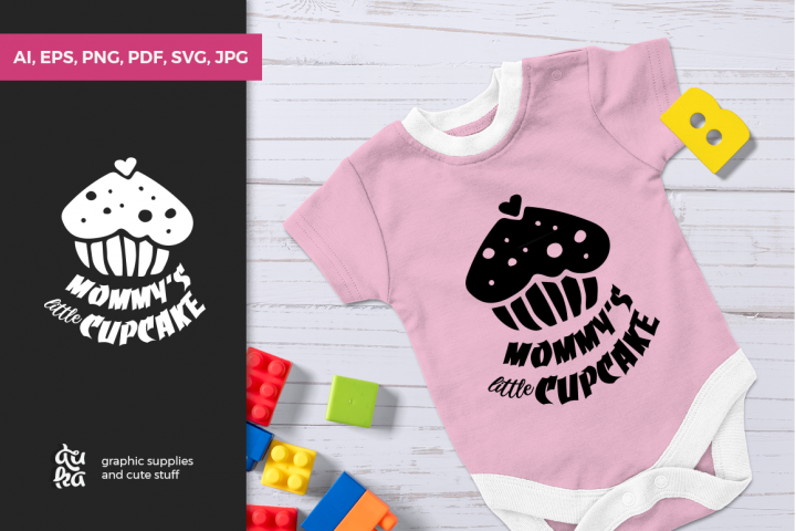 Childrens Day SVG Cut Files - Mommys little cupcake