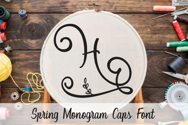 Spring Monogram Font