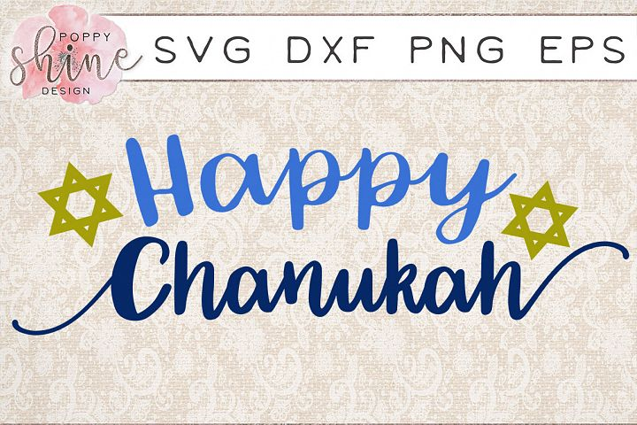 Happy Chanukah SVG PNG EPS DXF Cutting Files