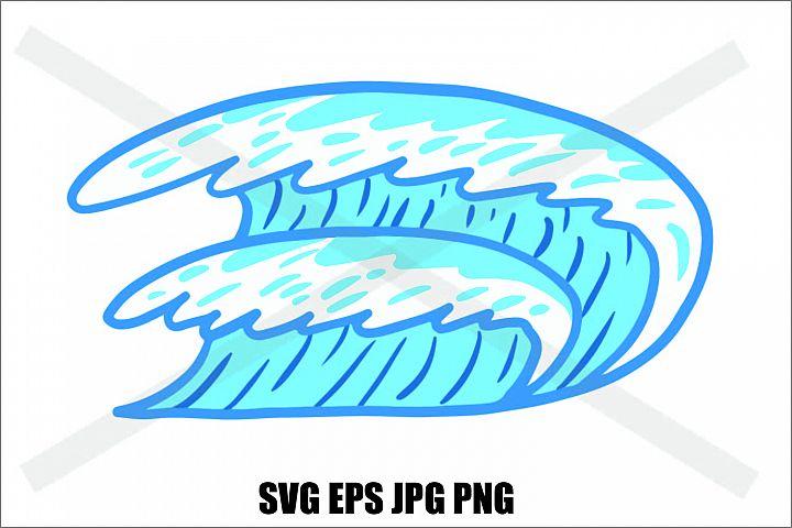 Blue Wave - SVG EPS JPG