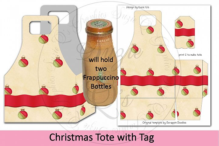 Christmas Tote with Tag