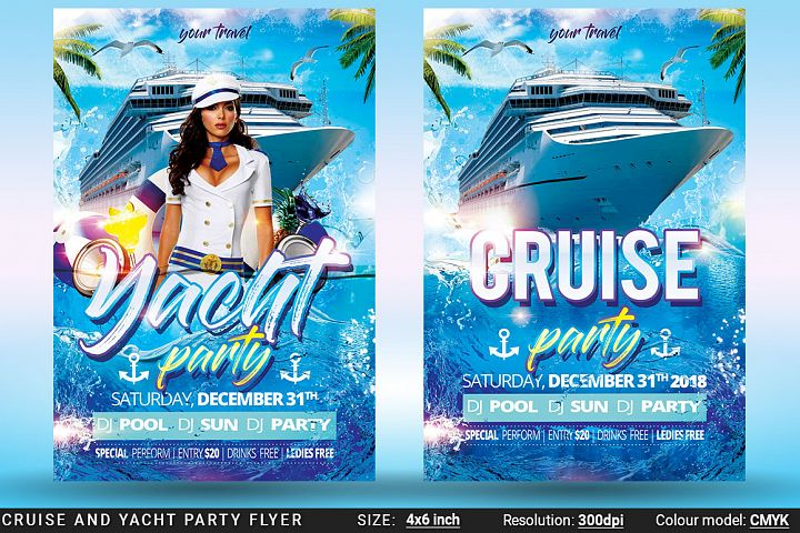 Cruise And Yacht Party Flyer