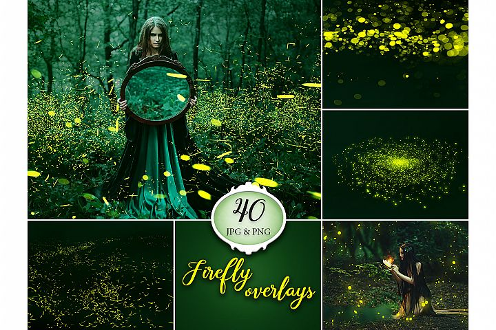 40 Firefly Photo Overlays